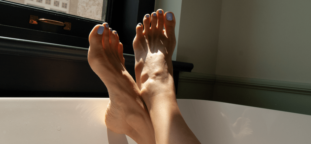 Soft Feet with Pedicured Nails